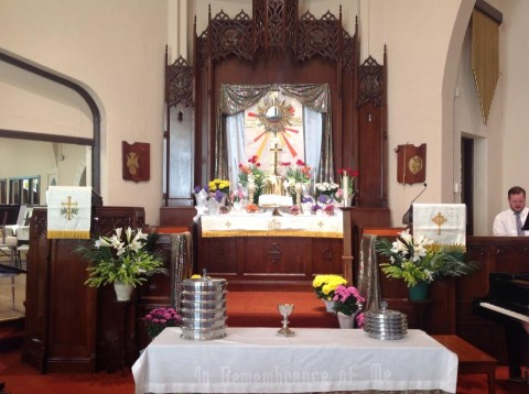Our Easter altar