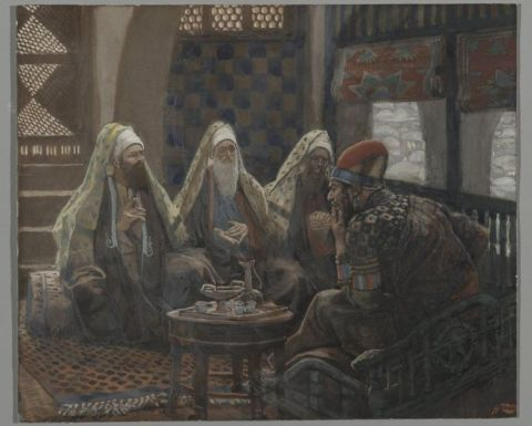The Magi in the House of Herod (Les rois mages chez Hérode) - James Tissot