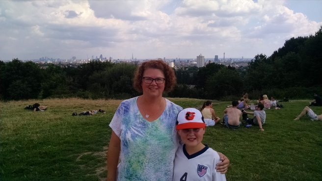 Atop Parliament Hill, with the London Skyline